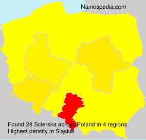 Familiennamen Scierska - Poland