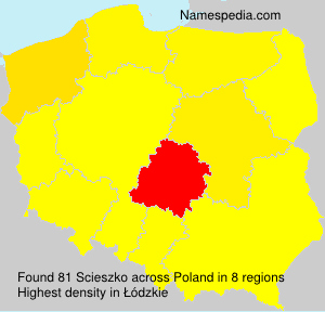 Surname Scieszko in Poland