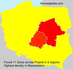 Surname Scios in Poland