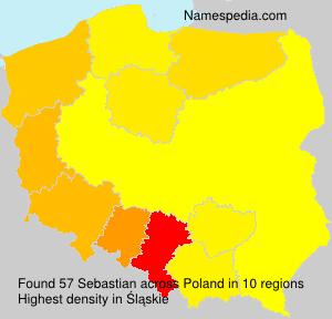 Familiennamen Sebastian - Poland
