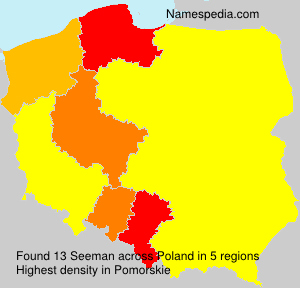 Surname Seeman in Poland