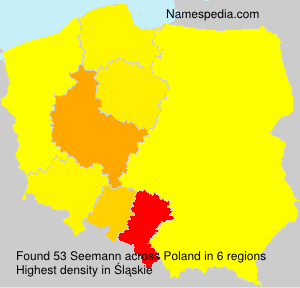 Surname Seemann in Poland