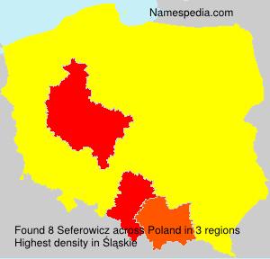 Surname Seferowicz in Poland