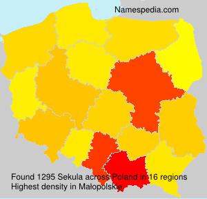Surname Sekula in Poland