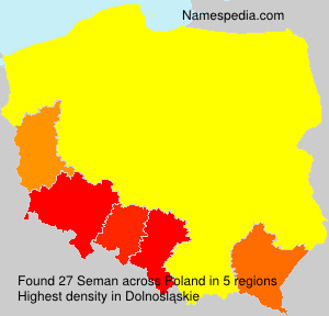 Surname Seman in Poland