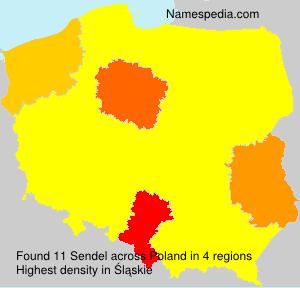 Surname Sendel in Poland