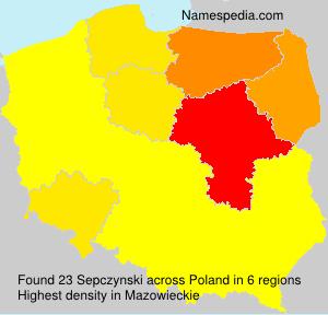 Familiennamen Sepczynski - Poland