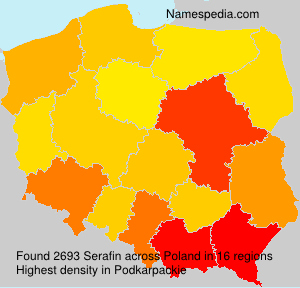 Surname Serafin in Poland