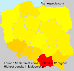 Surname Seremet in Poland