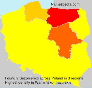 Surname Sezonienko in Poland