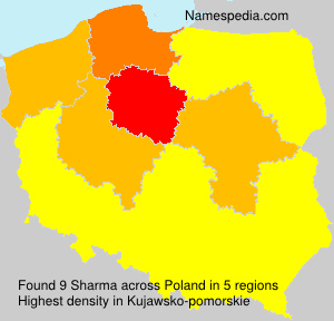 Surname Sharma in Poland