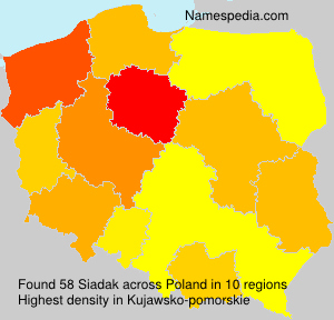 Surname Siadak in Poland
