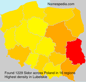 Surname Sidor in Poland