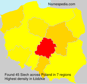Surname Siech in Poland