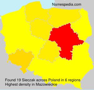 Surname Sieczak in Poland