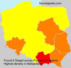 Surname Siegiel in Poland