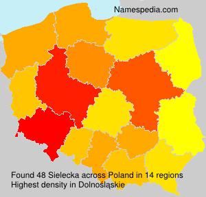 Familiennamen Sielecka - Poland