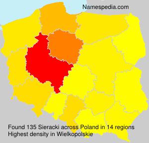 Surname Sieracki in Poland