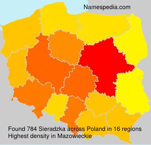 Familiennamen Sieradzka - Poland