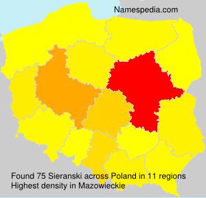 Familiennamen Sieranski - Poland