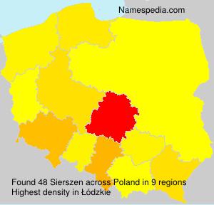 Surname Sierszen in Poland
