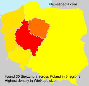 Surname Sierzchula in Poland