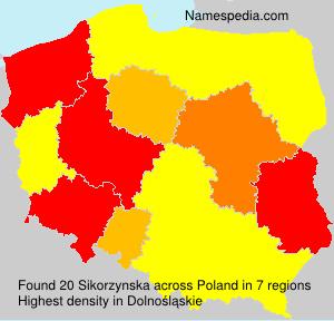 Familiennamen Sikorzynska - Poland