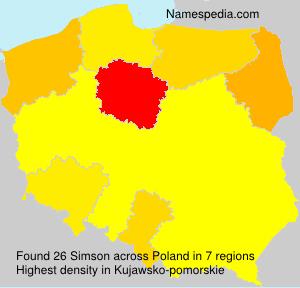 Surname Simson in Poland