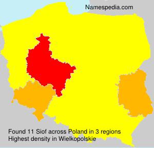 Familiennamen Siof - Poland