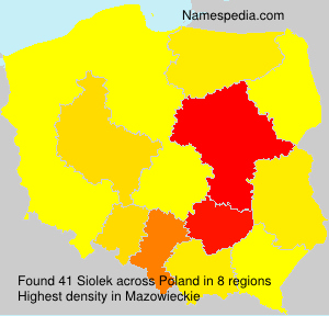 Surname Siolek in Poland
