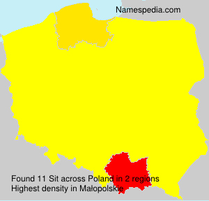 Surname Sit in Poland