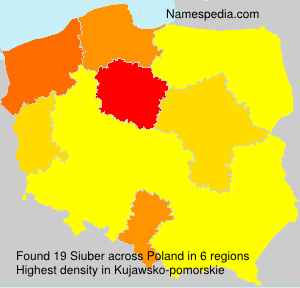 Surname Siuber in Poland