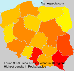 Surname Skiba in Poland