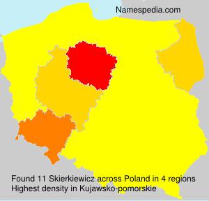 Familiennamen Skierkiewicz - Poland