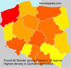 Familiennamen Skinder - Poland