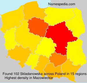 Surname Skladanowska in Poland