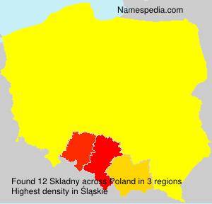 Surname Skladny in Poland