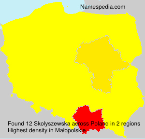 Surname Skolyszewska in Poland