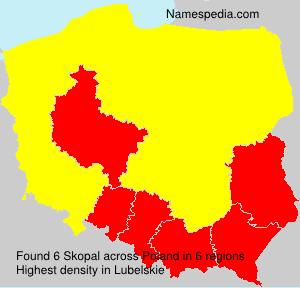 Surname Skopal in Poland