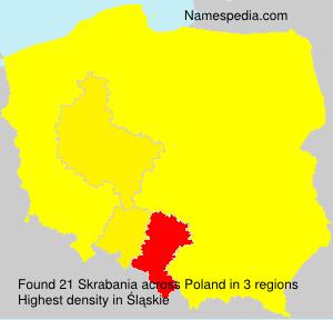 Surname Skrabania in Poland