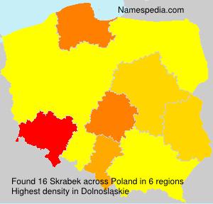 Surname Skrabek in Poland
