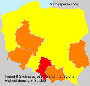 Surname Skulina in Poland