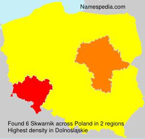 Surname Skwarnik in Poland