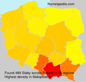 Surname Slaby in Poland