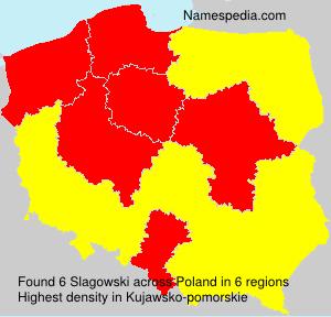 Familiennamen Slagowski - Poland