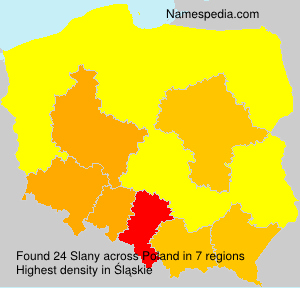 Surname Slany in Poland