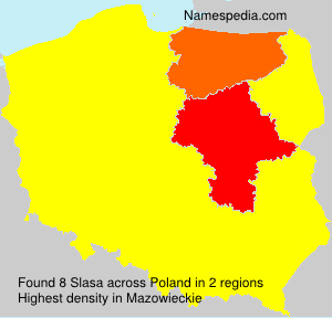 Surname Slasa in Poland