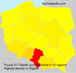 Surname Slawik in Poland