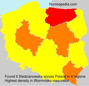 Surname Sledzianowska in Poland