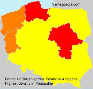 Surname Slizien in Poland